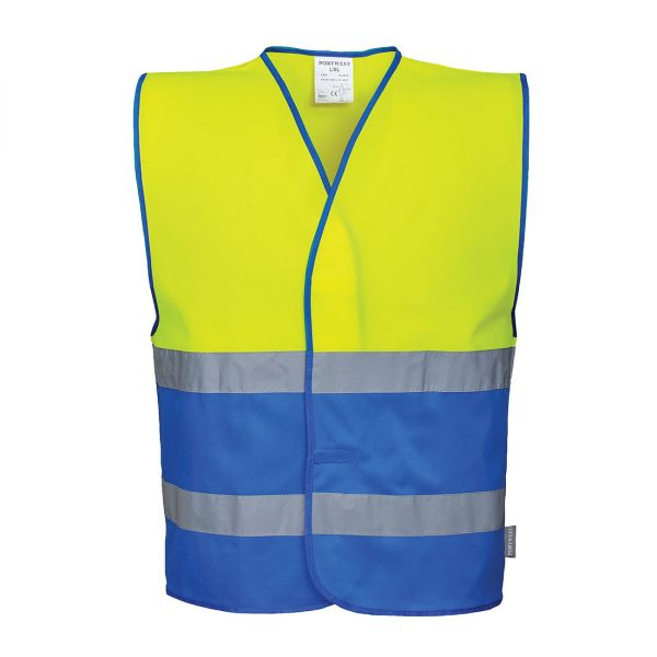 Kamizelka ostrzegawcza dwukolorowa żółto/niebieska