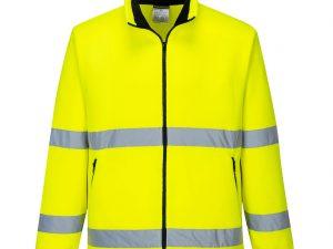 Żółty polar ostrzegawczy Essential. Widok z przodu.