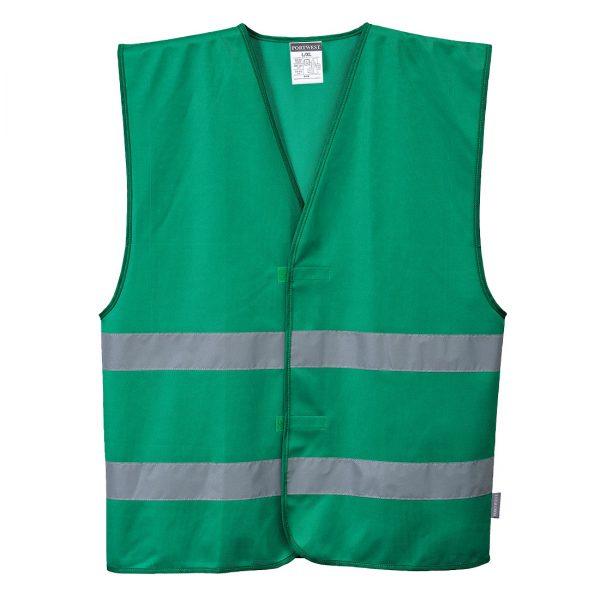 Zielona kamizelka Iona. Przód