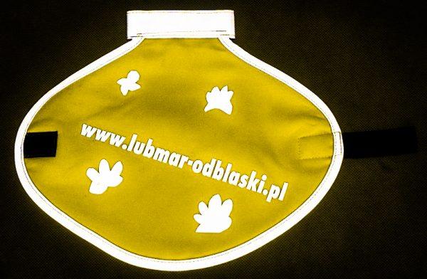 Narzutka odblaskowa dla psa z przykładową aplikacją