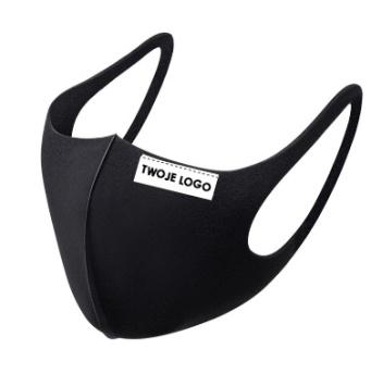 Czarna maska ochronna 3D poliestrowa