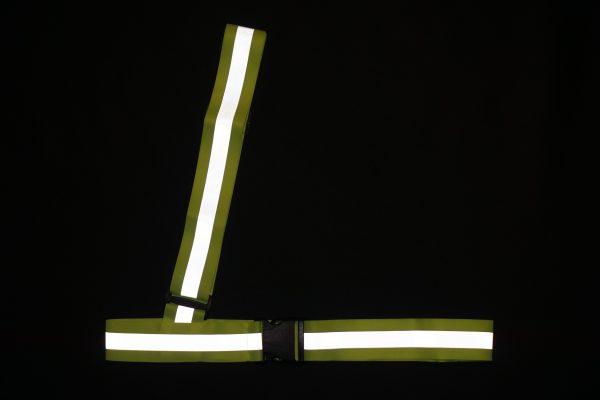 Pas odblaskowy ukośny w kolorze żółtym