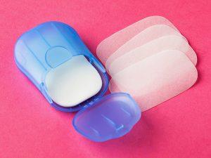mydełko w plastrach niebieskie