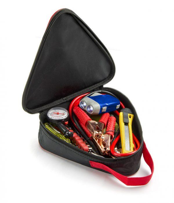 zestaw narzędzi do auta środek