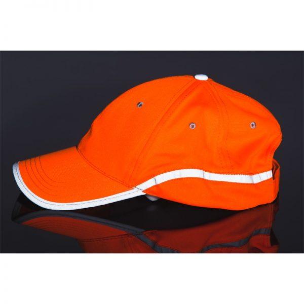 czapka pomarańczowa odblask