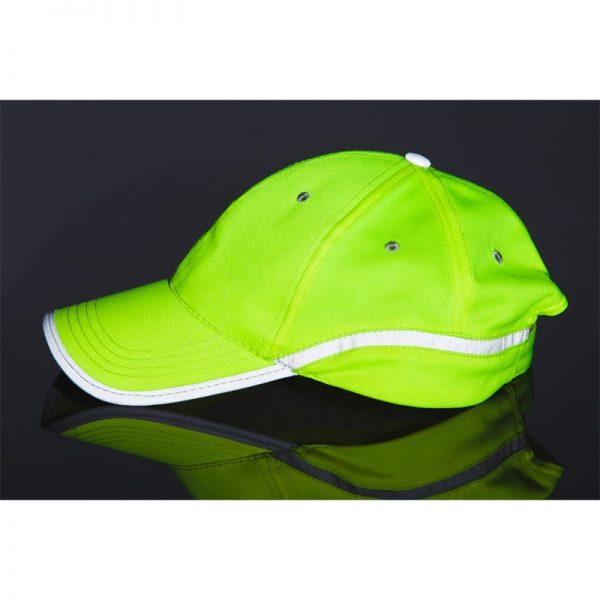 czapka żółta odblask